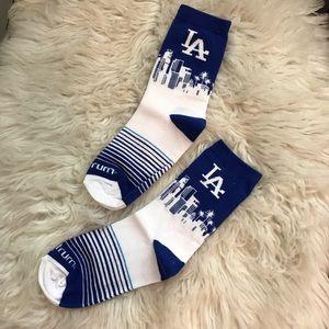 LA Dodgers Skyscape Socks